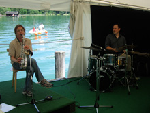 Michael Hornstein (saxophone) und Guido May (drums)